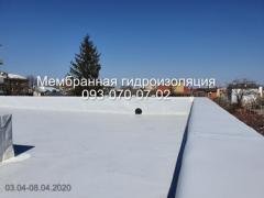Installation of a flat membrane roof on corrugated board in Pavlograd