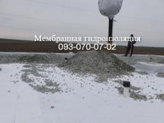 Installation of ballast roofing in Selidovo