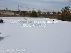 Installation of PVC membrane in Kamenskoye