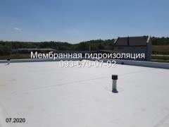 Membrane roof, roof repair in Novomoskovsk