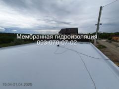 Membrane roofing device in Kamenskoye