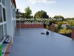 Overhaul of a pvc elevator roof with a membrane in Nikopol