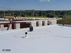 Ремонт мембранной кровли, укладка мембраны ПВХ в Павлограде