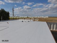 repair and installation of a roof with PVC membrane in Dnipro