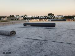 Roofing made of a polymer membrane (PVC) in Nikopol