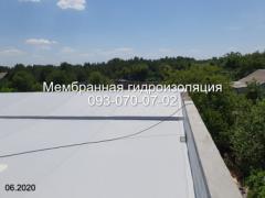 Roofing works with PVC membrane in Novomoskovsk