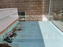 Waterproofing of terraces, balconies in Kamenskoye